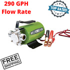 Portable Water Pump 12V DC Compact Lightweight 290 GPH For Water Liquid Transfer