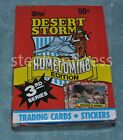 1991 Topps Desert Storm Homecoming 3rd Edition Box 36 Packs From Factory Case