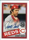 2020 Topps Johnny Bench 1985 Red Parallel Auto Autograph 16 25 - Reds