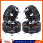 4 2 Wheel Spacers 6x55 to 6x55 12x15 Studs For Toyota Chevrolet GMC Black