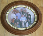 Antique WALNUT Oval Picture Frame Victorian 1870s Deep Well Golden Ring Rim