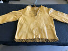 Vintage Native American leather Jacket Sweater Hand Made Superb Item