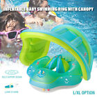 Inflatable Baby Swimming Ring Toddler Float Swim Pool Water Seat Canopy