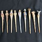 Vintage Nativity Set Icicle Style Ornaments 9 Pieces Artist Signed Mlow