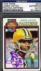 James Lofton Cards, Rookie Card and Autographed Memorabilia Guide 29