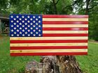 American Flag Wooden Rustic Handcrafted Large 195x37