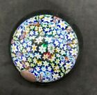 Mirano Art Glass Millefiori Hand Blown Paperweight with lable