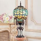 Hot Air Balloon Montgolfire Stained Glass Lamp Illuminated Sculpture
