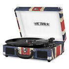 Turntable Suitcase 3 speed Bluetooth Record Player Portable with Stereo Speaker