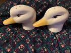 Vintage White Duck Head Salt And Pepper Shakers