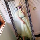 VINTAGE 70s YELLOW CHIFFON ROMANTIC DRESS