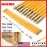 10PCS 23'' Wire Electrical Fish Tape Cable Fiberglass Coaxial Puller Running