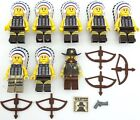 Lego 8 New Native American Indian Minifigures with Cowboy Sheriff Figure Weapons