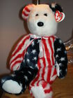 TY Patriotic Spangles New MWMT TY Beanie Buddy Bear Collectors Quality