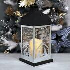 Christmas LED Candle Lantern Xmas Silent Night Nativity Scene Black  White