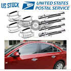 Door Handle Covers + Bowls Chrome 4DR For 2010 2012 13 14 2015 2016 Chevy Cruze