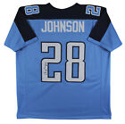 Chris Johnson Authentic Signed Blue Pro Style Jersey Autographed BAS Witnessed
