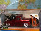1 24 JADA JUST TRUCKS 1955 CHEVY STEPSIDE TOW TRUCK 4 X EXTRA WHEEL DIECAST NEW