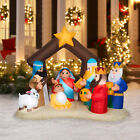 Holiday Time Christmas Outside  Inside 65 ft Nativity Inflatable that Lights