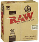 AUTHENTC Raw Classic King Size Rolling Paper Full Box 50 pack 32 Per Pack