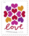 LOVE HEARTS BLOSSOM USPS FOREVER STAMPS 5 Panes of 20 (100 stamps) USA #565000