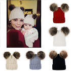 Knitted Hat Winter Warm Children Hats Baby Hats Mother Newborn Family Matching