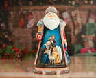 Santa figurines Nativity scene Wooden Santa Christmas decor Santa Claus figurine