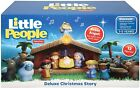 Fisher Price 12 Little People Deluxe Christmas Story Nativity Set Lights  Music