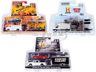HOLLYWOOD HITCH  TOW SERIES 8 SET OF 3 PCS 1 64 DIECAST GREENLIGHT 31100 A B C
