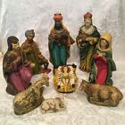 VTG BABY JESUS MARY JOSEPH WISE MEN  ANIMALS Nativity Figurines Made In Japan