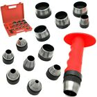 13 Sharp Hollow Punch Tool Set Leather Kit Gasket Hole