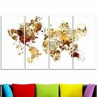 Design Art Red and Orange Map Canvas Art Print Extra Large