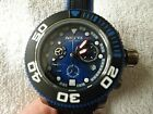 Invicta Sea Hunter 22125 Blue Dial Silvertone Case Black  Blue Strap Watch