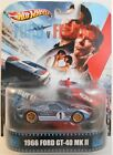 HOT WHEELS RETRO ENTERTAINMENT FORD V FERRARI 1966 FORD GT 40 MK II CUSTOM