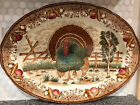 VINTAGE TURKEY PLATTER DISTRIBUTED BY KANNEY MADE IN JAPAN