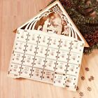 Advent Calendar Countdown Nativity Christmas 24 Drawers LED Christmas Wooden