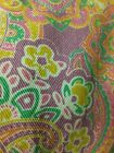 NEW with TAGS Chaps Orange Pink Purple Green Paisley Jeans Size 14 Straight Leg