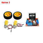 Smart Car Robot Plastic Tire Tyre Wheel Dc 3-6v Gearbox Motor Set For Arduino