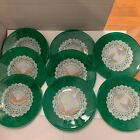 8 Decoupage Art Glass Plates Artisan Handcrafted Butterfly Plates Charming