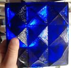 Vintage Blenko Cobalt Blue Bookend Art Glass Sculpture Table Art Paperweight