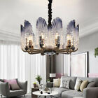 Modern Peacock 10 Lights Chandeliers Crystal Glass Pendant Lamp Ceiling Fixtures
