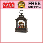 Nativity Scene Lighted Water Lantern 8 Inch Lighted Christmas Snow Globe with S