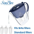 Fits Brita Mavea PUR Classic Water Pitcher Filter Replacement 10 Cup BPA Free