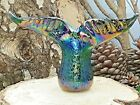 Neo Art Glass handmade whales tail sculpture ornament paperweight sign KHeaton