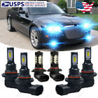 For Chrysler 300 2005 2010 LED Headlights + Fog Lights Bulbs 8000K Ice Blue HKL