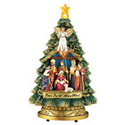 Lighted Musical SILENT NIGHT Nativity Scene Christmas Tree Tabletop Sculpture