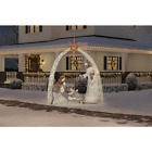 Indoor Outdoor Holiday Christmas Yard Decor LED Giant Nativity Scene 10 ft