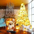 6ft 7ft Green White Christmas Xmas Tree Bushy Pine With 8 Modes LED String Light