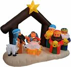 Light Up Inflatable Nativity Scene Large Outdoor Christmas Decorations BRAND NEW