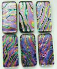 Lot 6 pcs RECTANGLE DICHROIC FUSED GLASS pendant BH7 CABOCHON HAND MADE